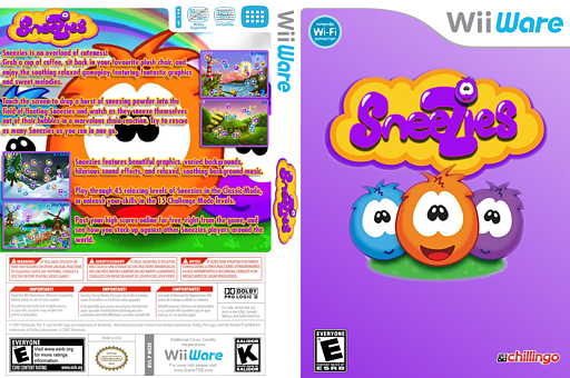 Sneezies WiiWare cover (WSZE)
