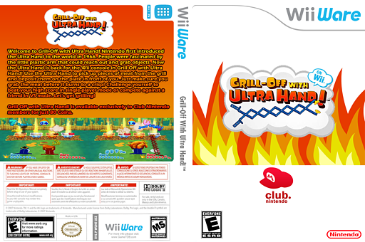Grill-Off with Ultra Hand! WiiWare cover (WUHE)