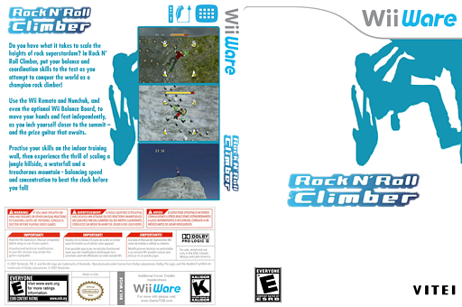 Rock N' Roll Climber WiiWare cover (WVOE)