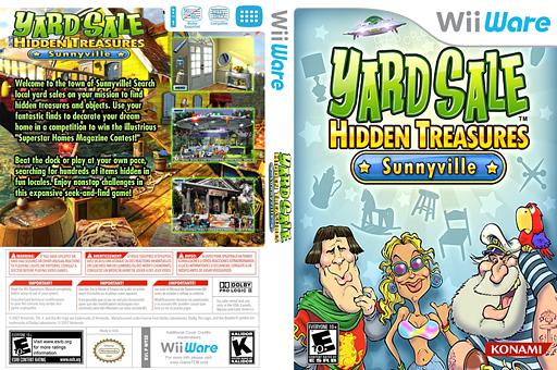 Yard Sale Hidden Treasures: Sunnyville WiiWare cover (WYSE)