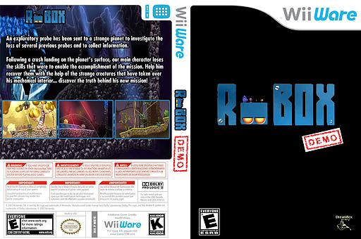 Robox (Demo) WiiWare cover (XH6E)