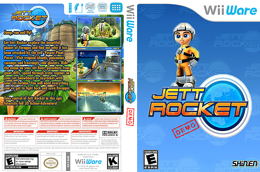 Jett Rocket (Demo) WiiWare cover (XHLE)