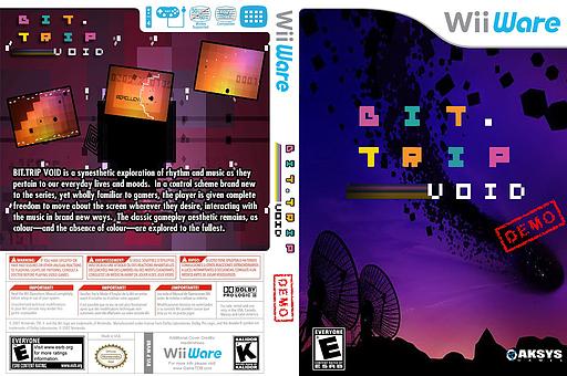 BIT.TRIP VOID (Demo) WiiWare cover (XHWE)