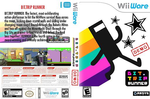 BIT.TRIP RUNNER (Demo) WiiWare cover (XHXE)