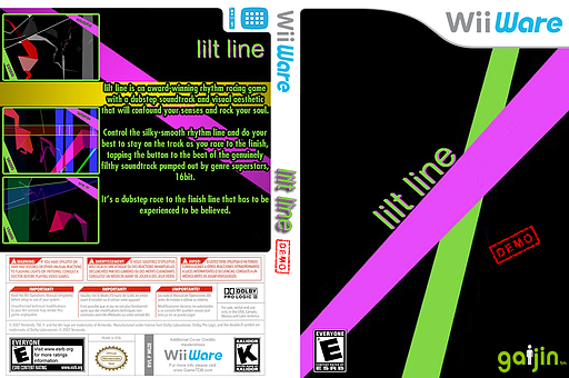 Lilt Line (Demo) WiiWare cover (XIAE)