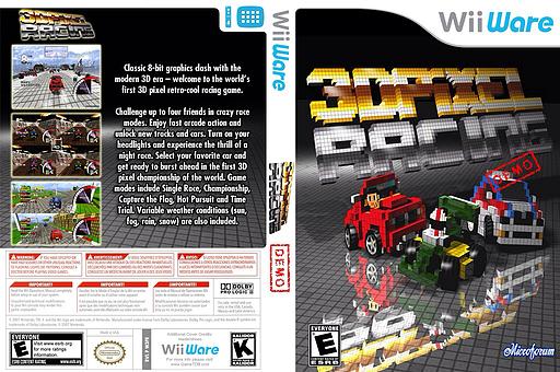 3D Pixel Racing Demo WiiWare cover (XIZE)