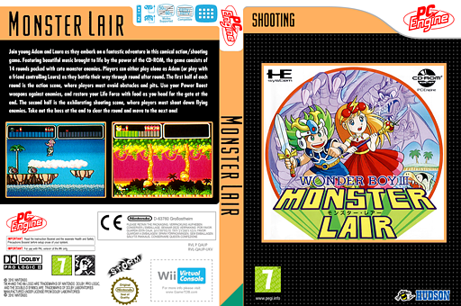 Monster Lair VC-PCE cover (QAUP)