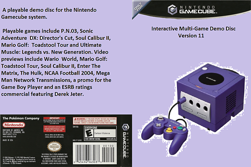 Interactive Multi-Game Demo Disc - Version 11 GameCube cover (D86E01)