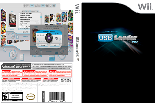 USB Loader GX Homebrew cover (DULA)