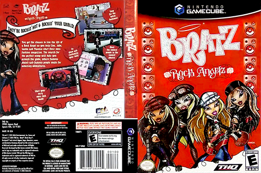 Bratz: Rock Angelz GameCube cover (GR6E78)
