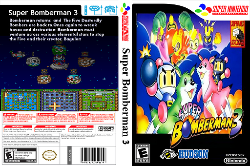 Super Bomberman 3 VC-SNES cover (JDBE)