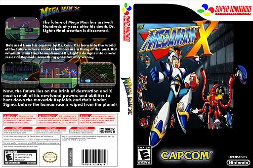 Mega Man X VC-SNES cover (JEBE)