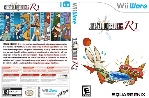 Crystal Defenders R1 WiiWare cover (WCIE)