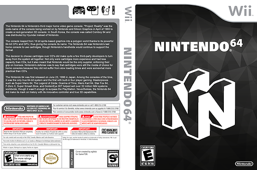 Nintendo 64 Forwarder Homebrew cover (WN64)