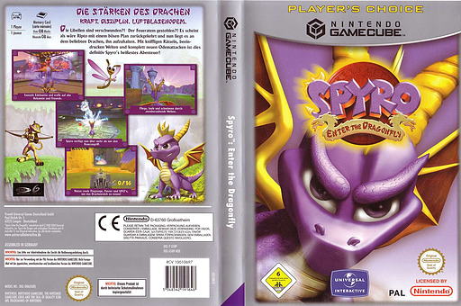 Spyro:Enter the Dragonfly GameCube cover (GS8P7D)