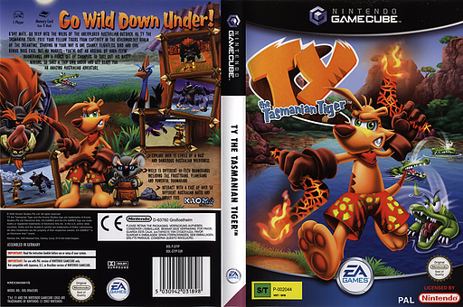 Ty the Tasmanian Tiger GameCube cover (GTYP69)