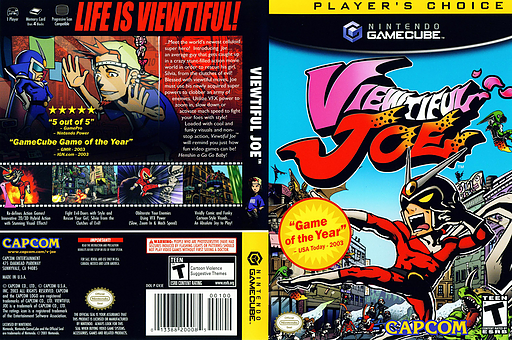Viewtiful Joe GameCube cover (GVJE08)