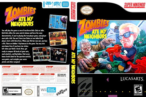 Zombies Ate My Neighbors VC-SNES cover (JA6E)