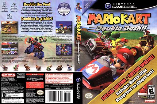 Mario Kart: Double Dash!! Bonus Disc GameCube cover (PM4E01)