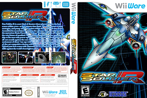Star Soldier R WiiWare cover (WBQE)