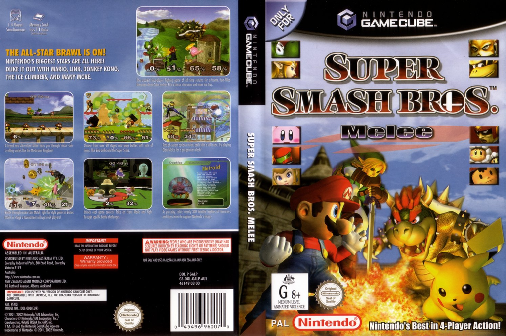 Super Smash Bros. Melee Wii coverfullHQ (GALP01)