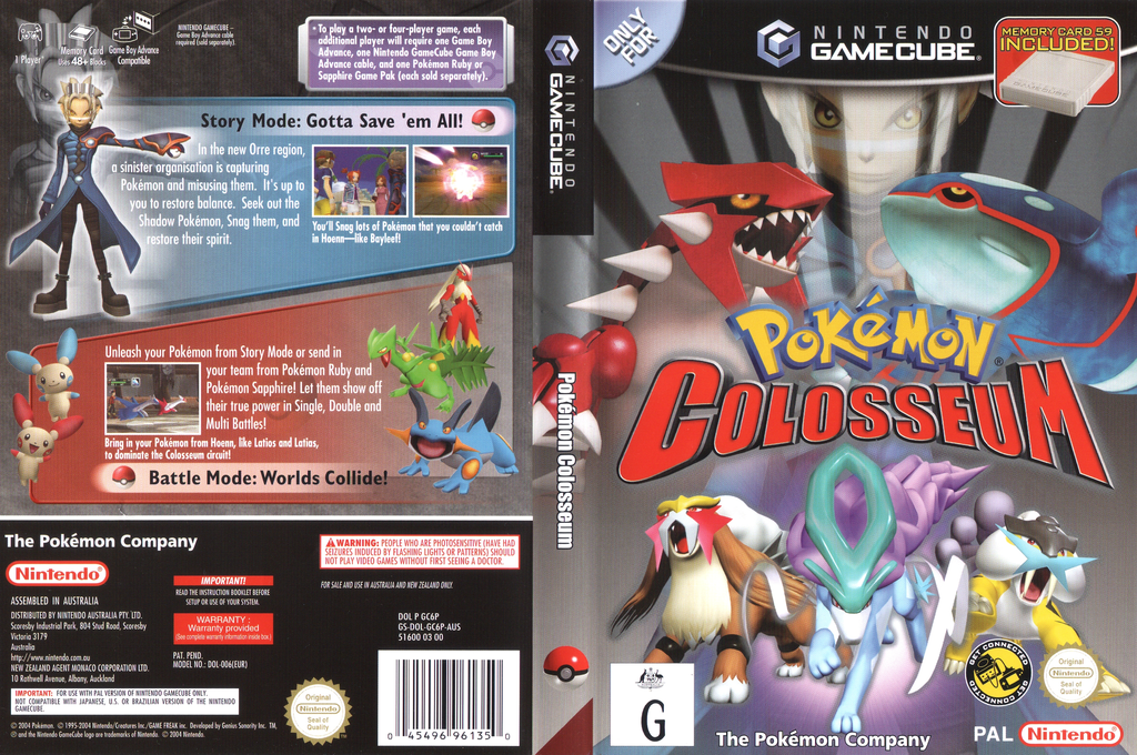 Pokémon Colosseum Wii coverfullHQ (GC6P01)