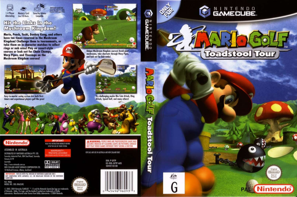 Mario Golf: Toadstool Tour Wii coverfullHQ (GFTP01)