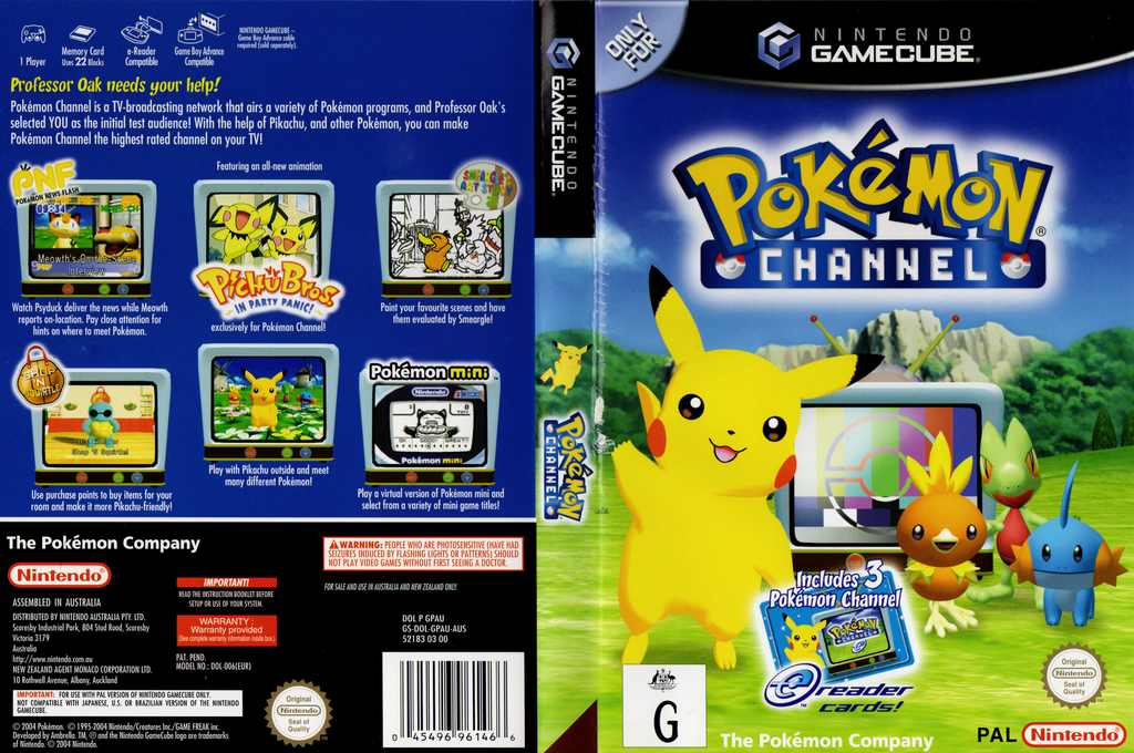 Pokémon Channel Wii coverfullHQ (GPAU01)