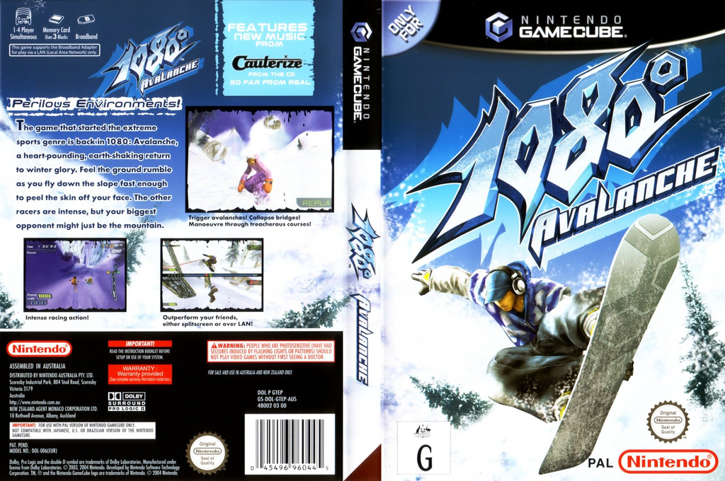 1080° Avalanche Wii coverfullHQ (GTEP01)