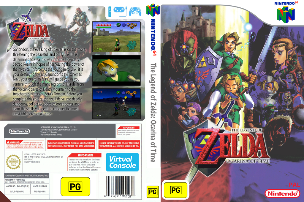 The Legend of Zelda: Ocarina of Time Wii coverfullHQ (NACP)
