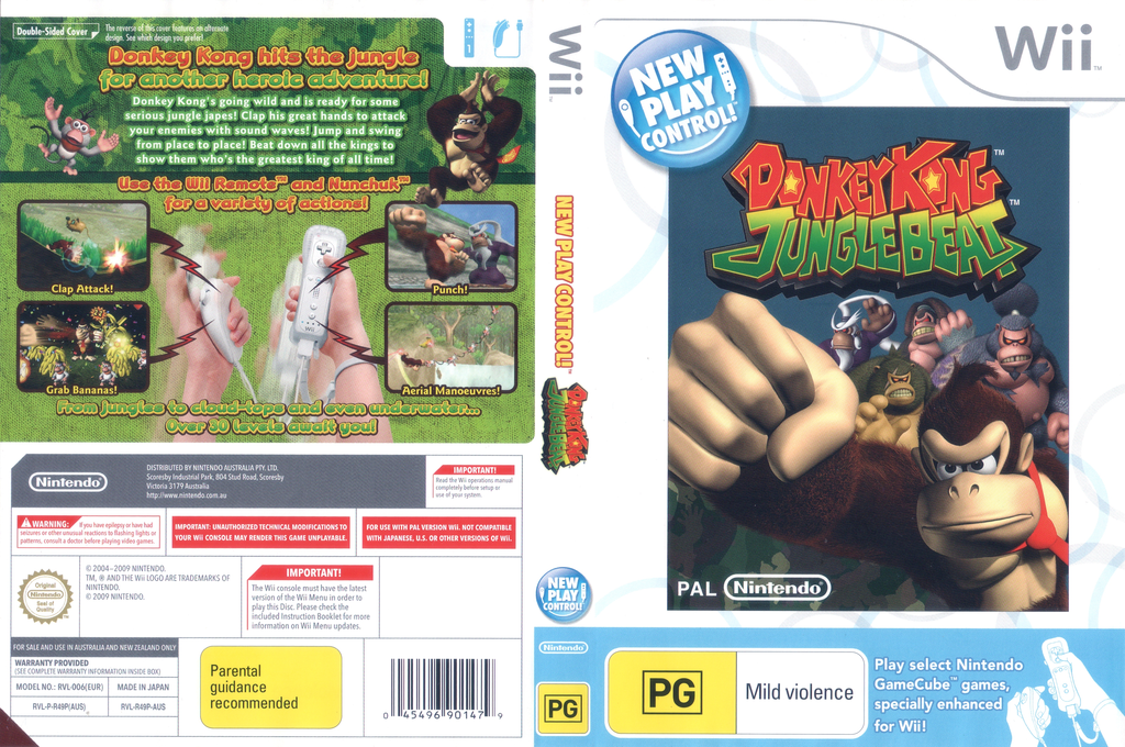 Donkey Kong: Jungle Beat Wii coverfullHQ (R49P01)