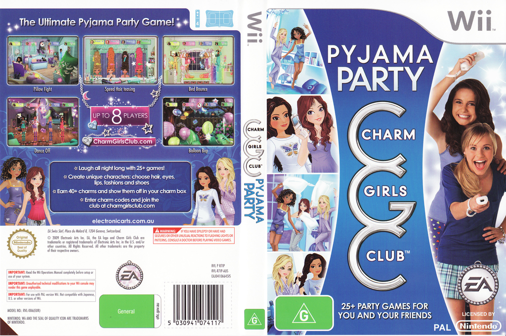 Charm Girls Club: Pyjama Party Wii coverfullHQ (R7IP69)