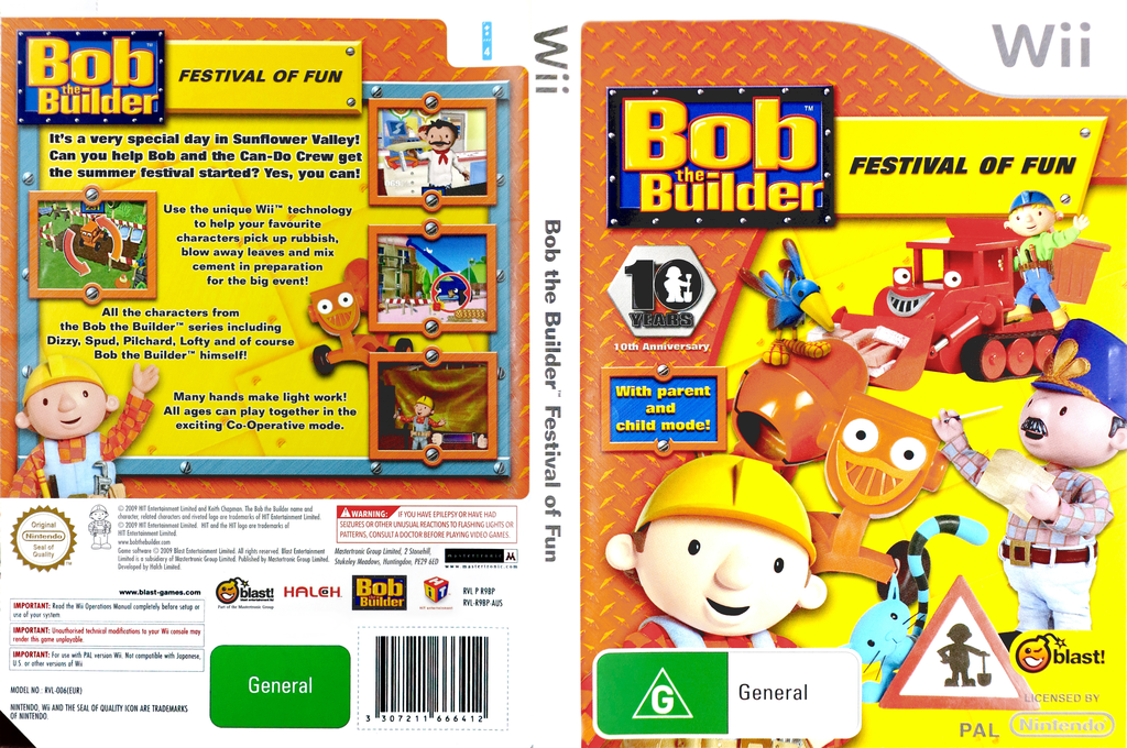Bob the Builder: Festival of Fun Wii coverfullHQ (R9BPMT)