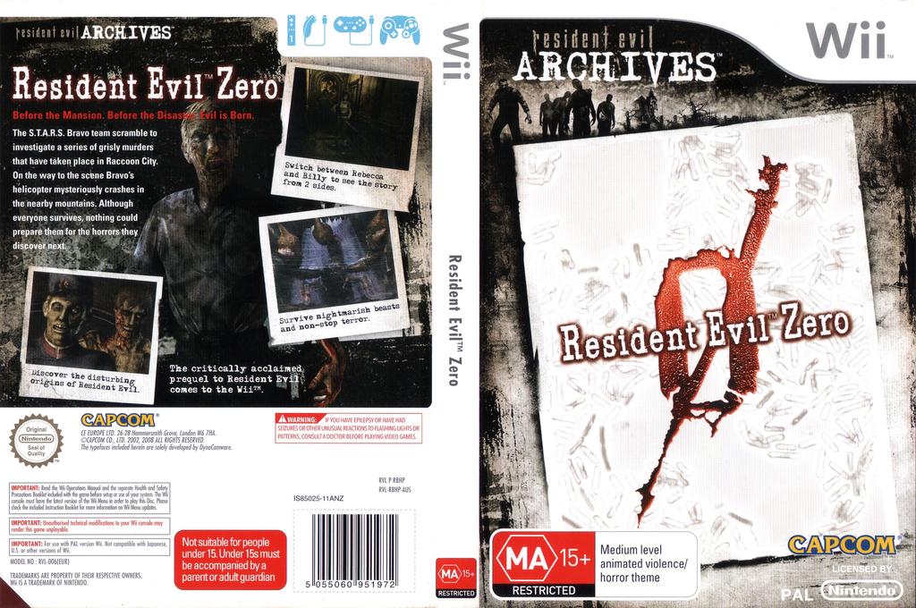 Resident Evil Archives: Resident Evil Zero Wii coverfullHQ (RBHP08)