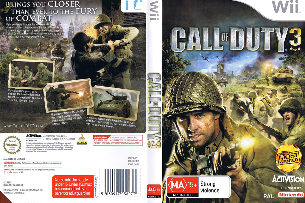 Call of Duty 3 Wii coverfullHQ (RCDD52)