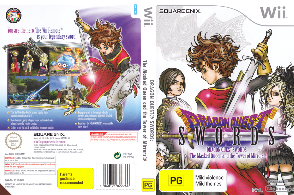Dragon Quest Swords: The Masked Queen and the Tower of Mirrors Wii coverfullHQ (RDQPGD)