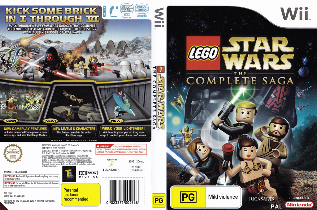 LEGO Star Wars: The Complete Saga Array coverfullHQ (RLGP64)