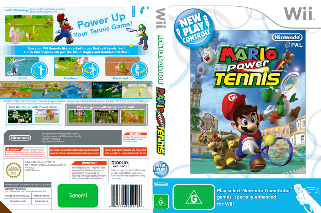 Mario Power Tennis Wii coverfullHQ (RMAP01)
