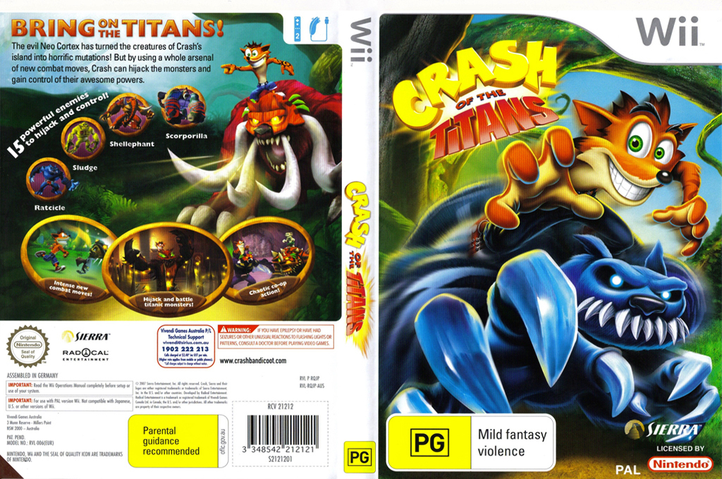 Crash of the Titans Wii coverfullHQ (RQJP7D)