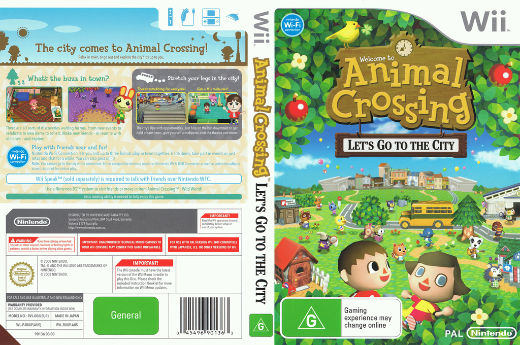 Animal Crossing: Let's Go to the City Wii coverfullHQ (RUUP01)