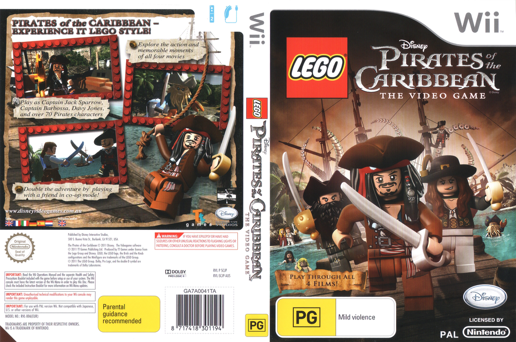 LEGO Pirates of the Caribbean:The Video Game Wii coverfullHQ (SCJP4Q)