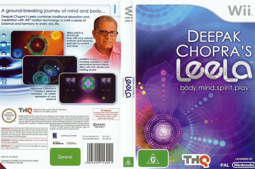 Deepak Chopra's Leela Wii coverfullHQ (SLEP78)
