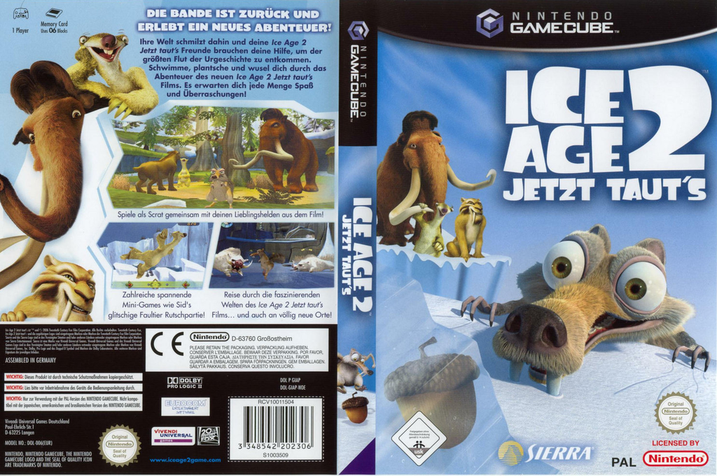 Ice Age 2:Jetzt Taut's Wii coverfullHQ (GIAP7D)