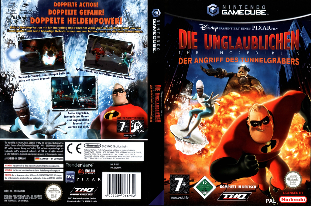 Die Unglaublichen:Der Angriff Des Tunnelgräbers Wii coverfullHQ (GIQY78)