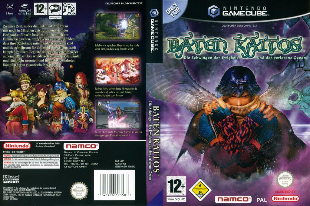 Baten Kaitos:Die Schwingen der Ewigkeit und der verlorene Ozean Wii coverfullHQ (GKBPAF)