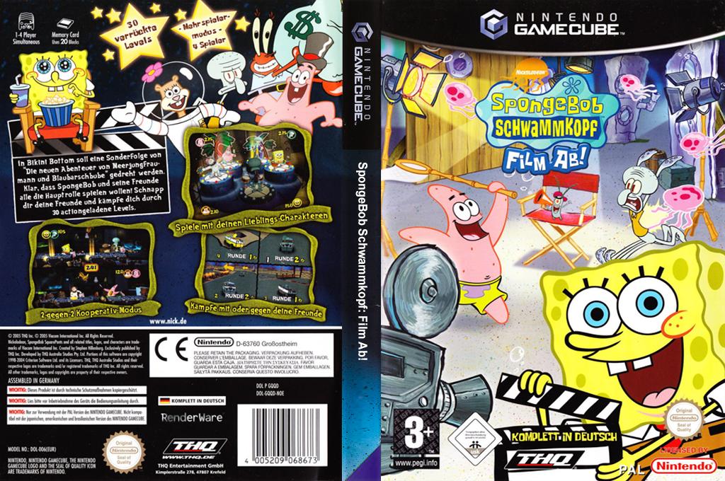 Nickelodeon SpongeBob Schwammkopf: Film ab! Wii coverfullHQ (GQQD78)