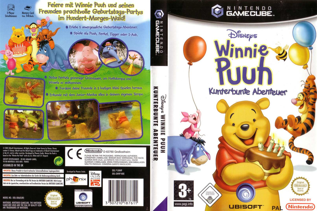 Winnie Puuh: Kunterbunte Abenteuer Array coverfullHQ (GWHP41)