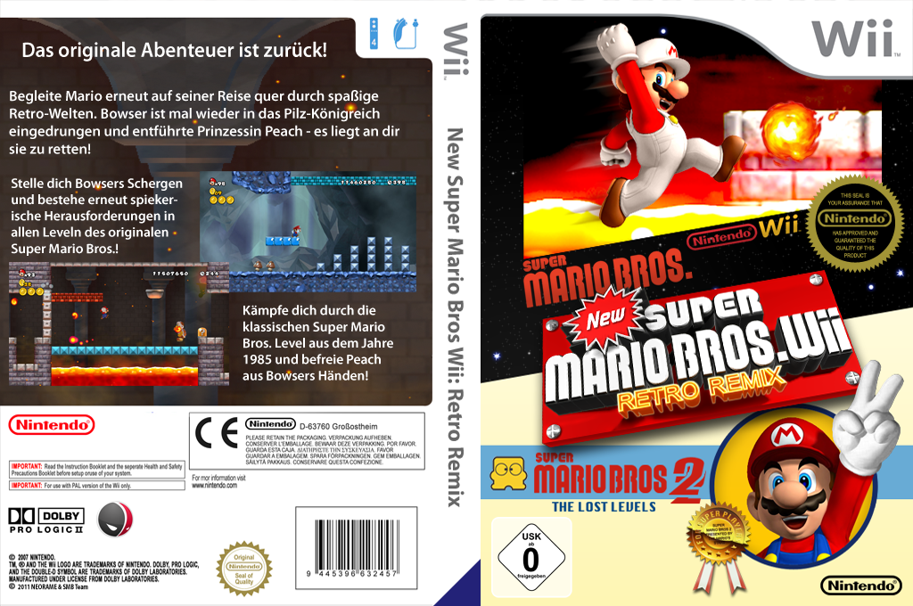 New Super Mario Bros. Wii Retro Remix Array coverfullHQ (MRRP01)