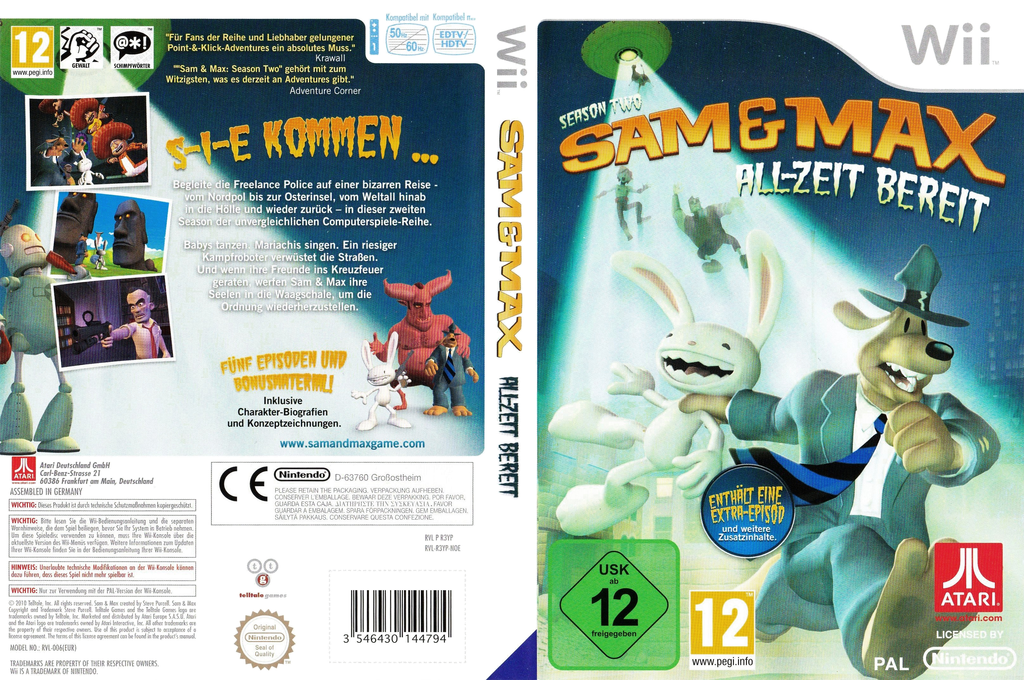 Sam & Max: Season Two: All-Zeit Bereit Wii coverfullHQ (R3YP70)