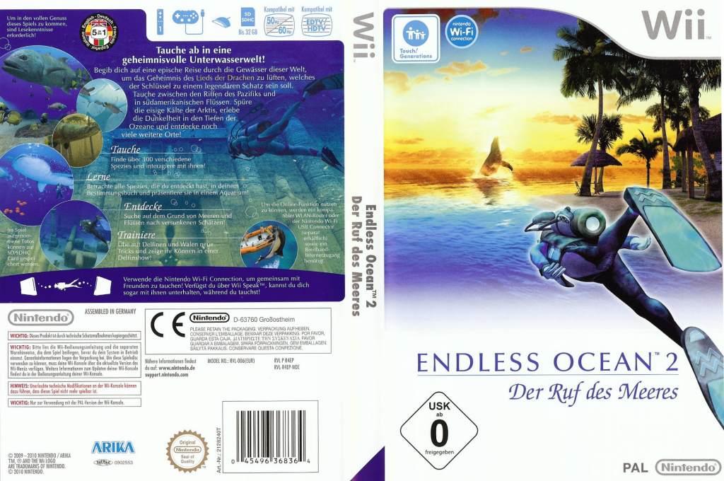 Endless Ocean 2: Der Ruf des Meeres Wii coverfullHQ (R4EP01)
